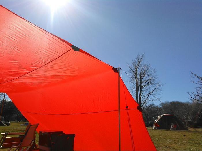 森のまきばオートキャンプ場でのキャンプの様子