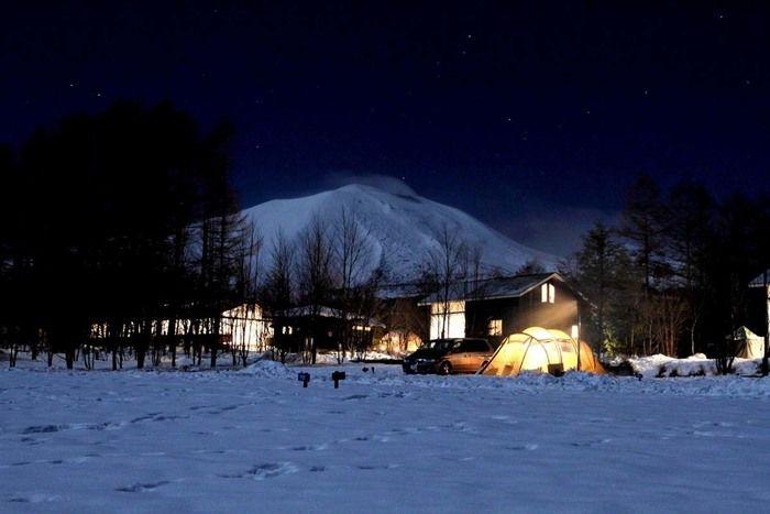冬の夜の北軽井沢スウィートグラス