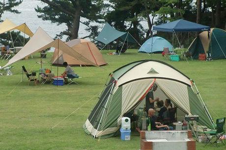 休暇村 気仙沼大島キャンプ場の芝サイト