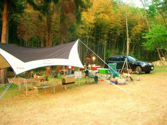 書写アウトドアパーク タロリン村でのキャンプの様子