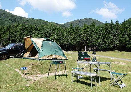 キャンプリゾート森のひとときでのキャンプの様子