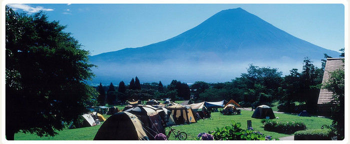田貫湖キャンプ場から見える富士山