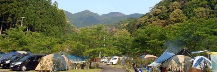 円満地公園オートキャンプ場でのキャンプの様子