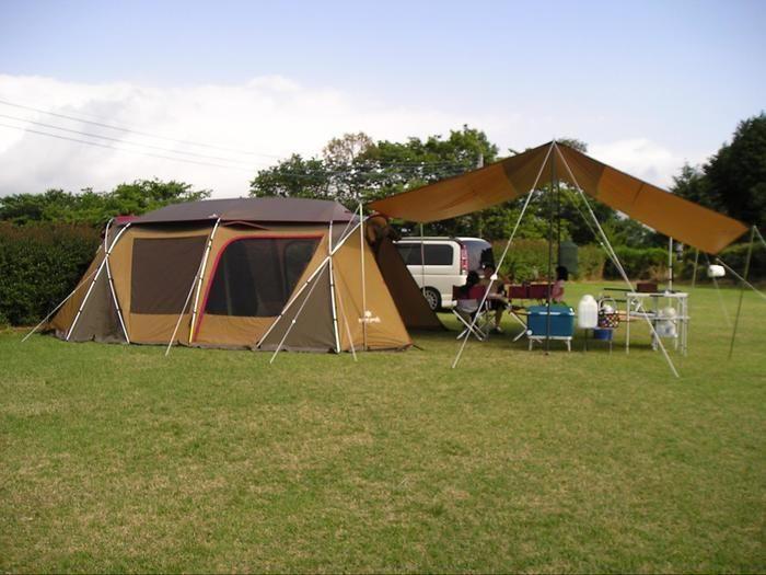 富士すそ野ファミリーキャンプ場でのキャンプの様子