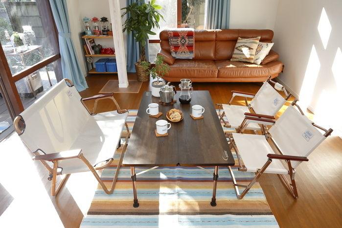 おうちキャンプの家具の配置