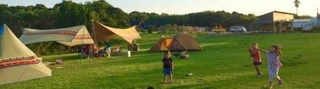 南州串本リゾート大島でのキャンプの様子