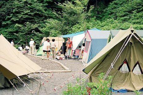 静岡市清水森林公園 黒川キャンプ場でのキャンプの様子