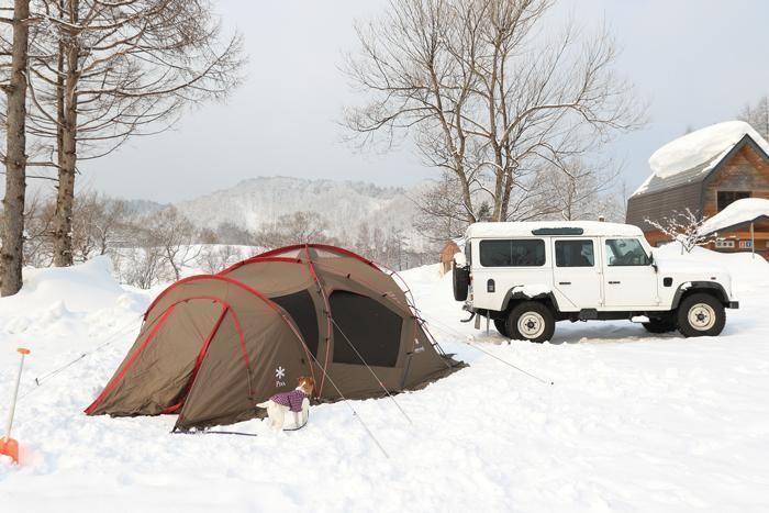 雪上キャンプの様子