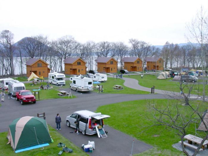 洞爺水辺の里財田キャンプ場のキャンプサイト