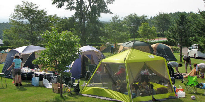 道立オホーツク公園てんとらんどキャンプ場のキャンプサイト