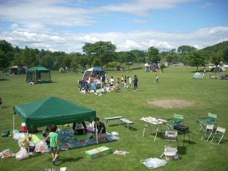 カムイの杜公園キャンプ場のキャンプサイト