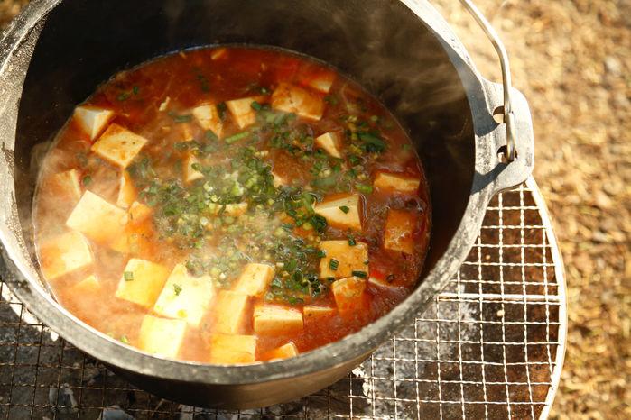 ダッチオーブンで作った麻婆豆腐