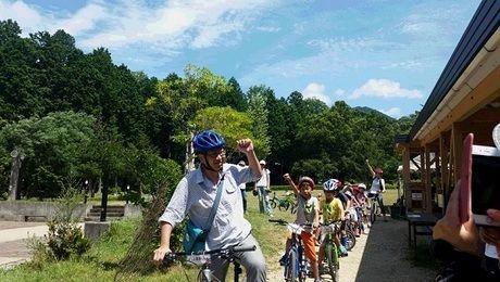 グリム冒険の森 サイクリングの様子