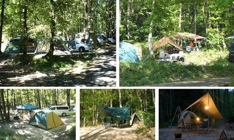 奥琵琶湖キャンプ場 様々なテント