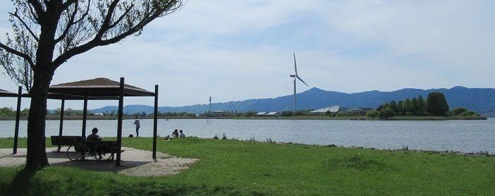 湖岸緑地 中主吉川の風景