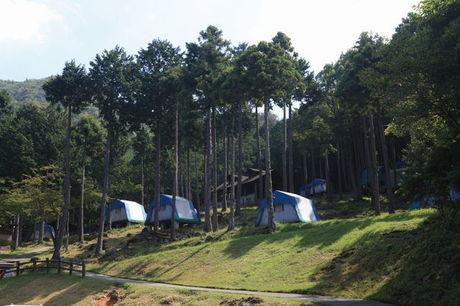 休暇村 近江八幡キャンプ場 常設テント