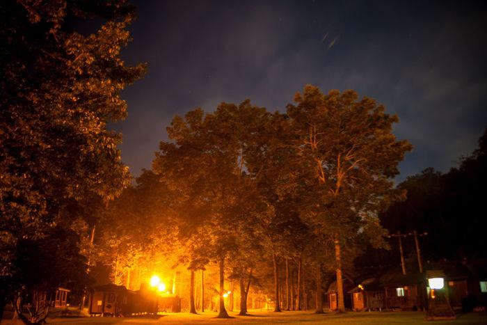 牛滝温泉いよやかの郷 夜の風景