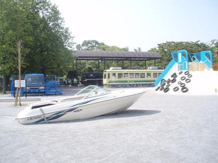 萩中公園の遊具