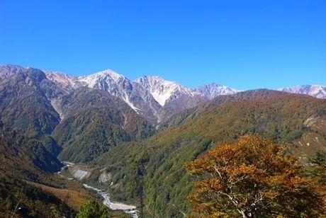 青空と美しい山々 絶景
