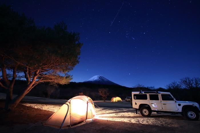 星空とテントの風景