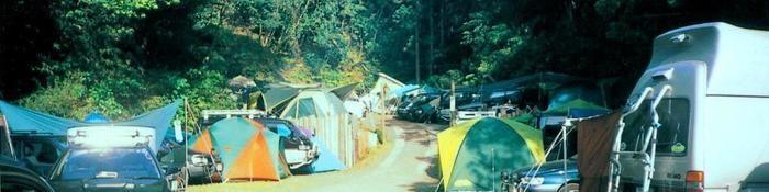 ACNオートキャンプin勝浦まんぼう たくさん張られたテント