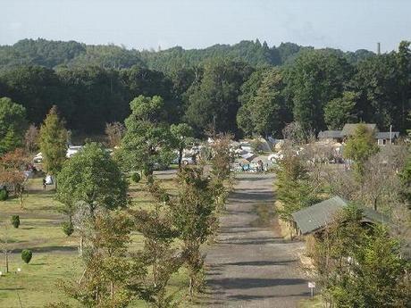 オートキャンプしあわせの丘リゾート 高台からの風景