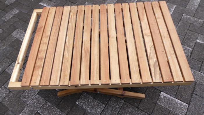 自作折り畳みローテーブル