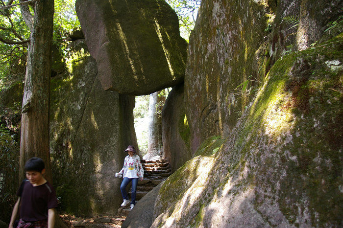 白雲橋コースの巨岩・奇岩