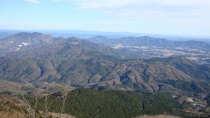 男体山と女体山からなる筑波山