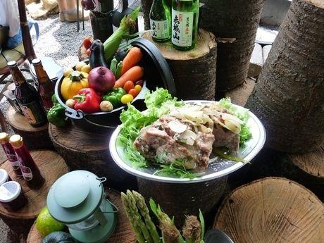 赤城山オートキャンプ場でのバーベキューの食材