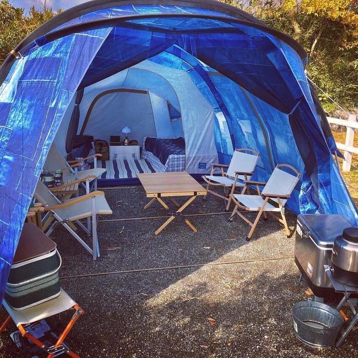おしゃれなデニム柄のテント