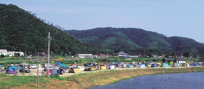 てんきてんきキャンプ場に張られたたくさんのテント