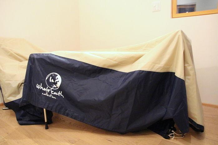 室内でテントを乾燥