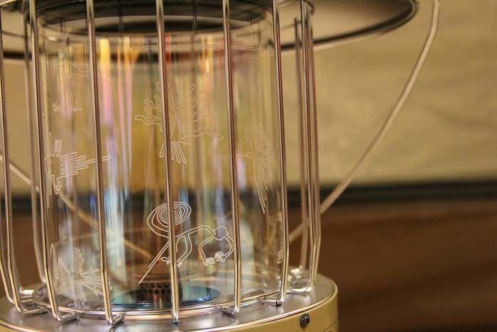 レインボーストーブのガラス部分