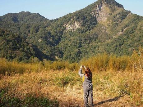 山の写真を撮る人