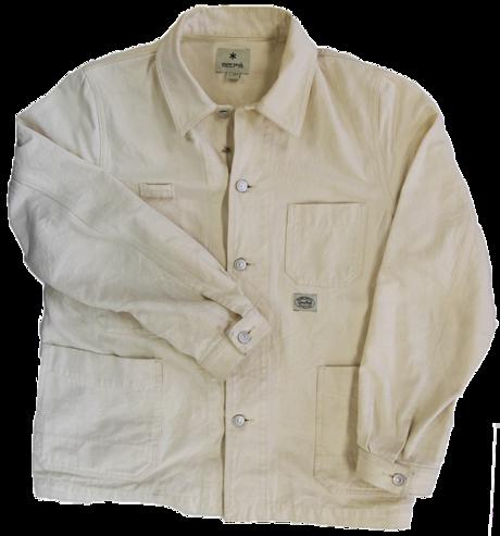 100%コットンのスノーピークのオカヤマオックスワークジャケット