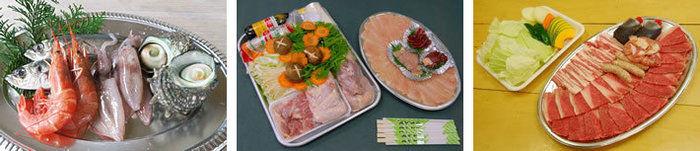 海の幸や肉など豊富な食材