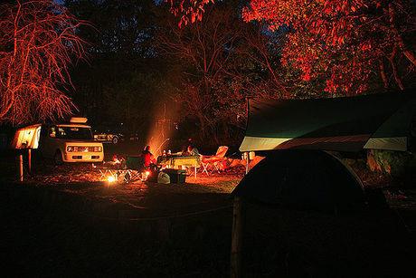 自然の森ファミリーオートキャンプ場 夜の様子