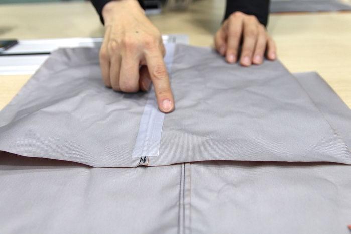 ジャケットの縫製部分