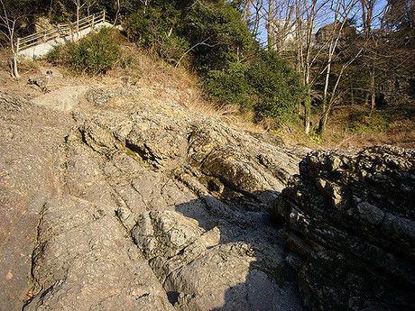 岩場の多い場所