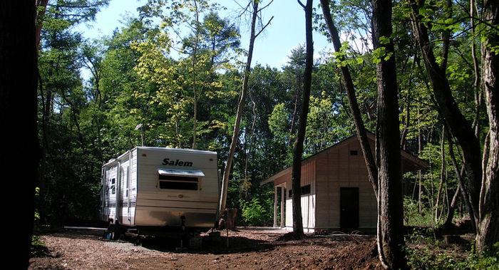 野尻カームフォレストキャンプ場のオートサイト
