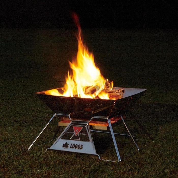 ロゴスの焚き火ピラミッドグリル