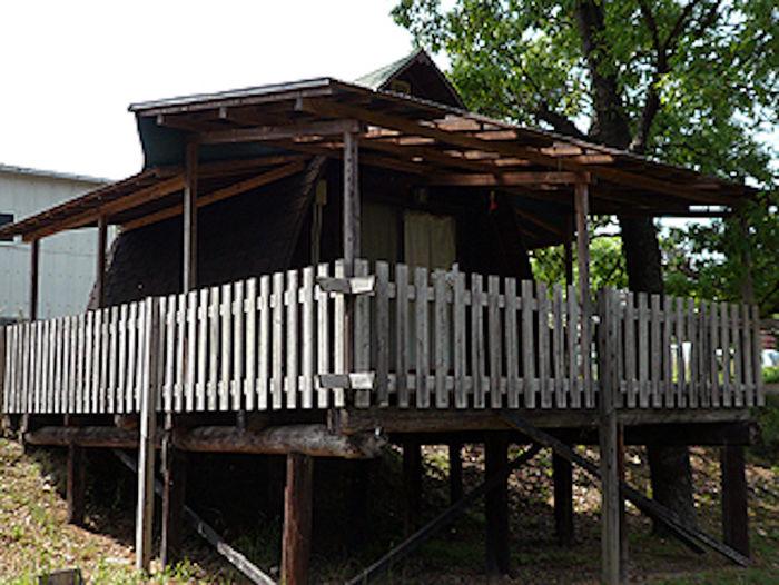 カルディアオートキャンプ場のバンガロー