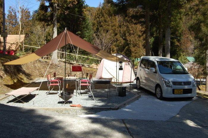 天川村みのずみオートキャンプ場のテントサイト