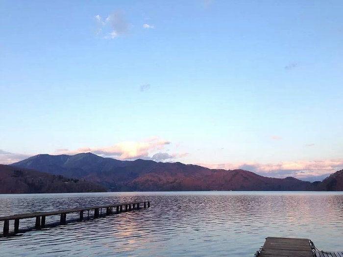湖楽園キャンプ場からの野尻湖