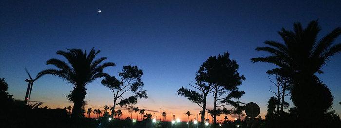 夜の竜洋海洋公園オートキャンプ場のキャンプサイト