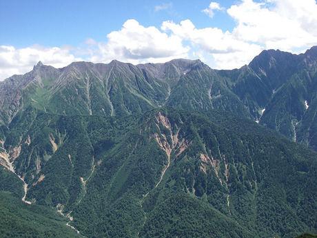 槍ケ岳の全景