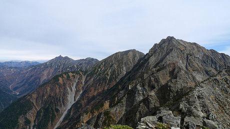 北アルプスの山頂