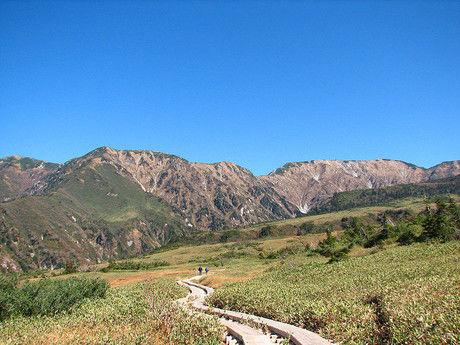 立山登山口から見える景色