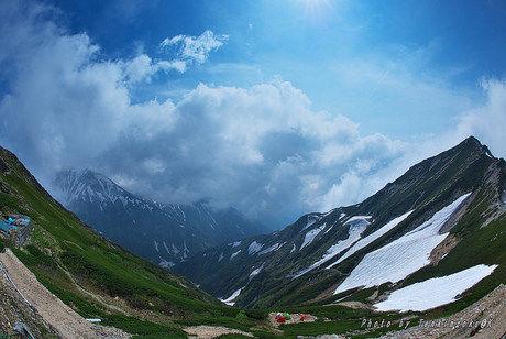 唐松岳山頂から見える景色
